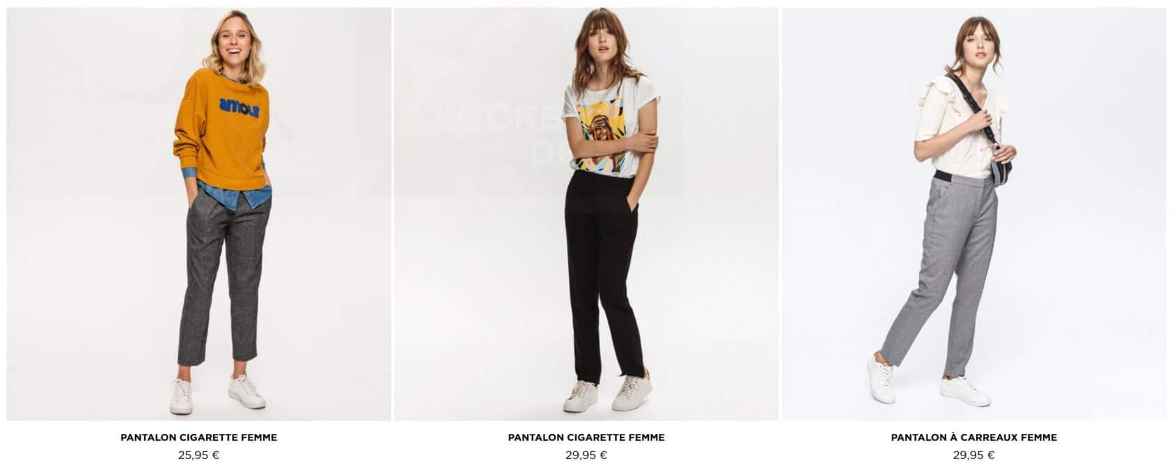 pantalons tendance femmes promod