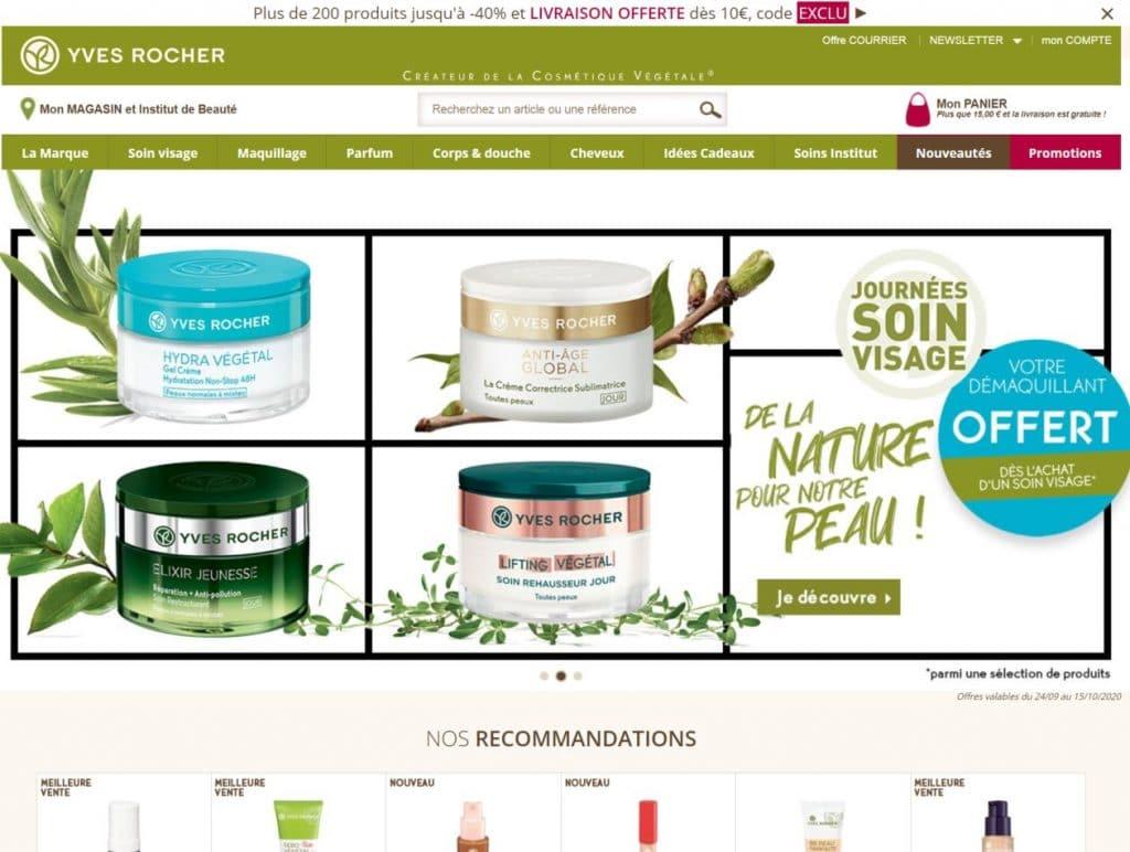 site web yves-rocher.fr