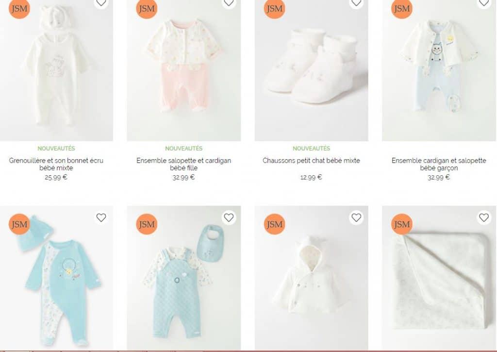 vêtements de naissance bébé